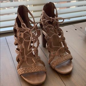 Merona Chunky Lace Up Heels
